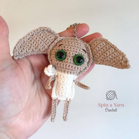 Free Crochet Pattern Dobby Keychain By Spin A Yarn Crochet
