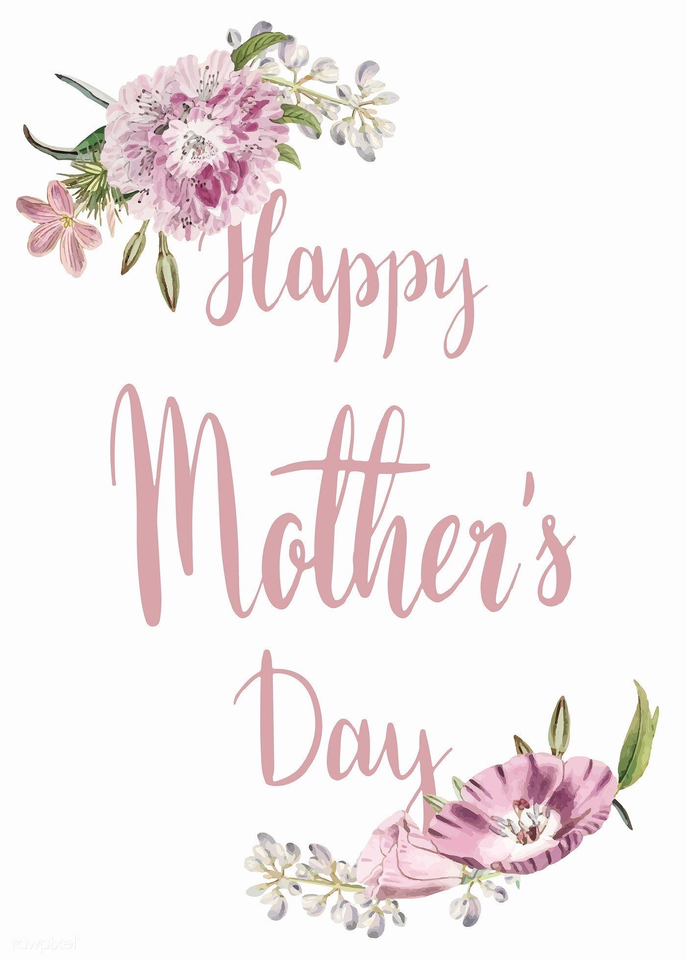 Happy Mother S Day Card Vector Premium Image By Rawpixel Com Sasi Wan Happy Mother S Day Card Happy Mothers Day Images Happy Mothers Day