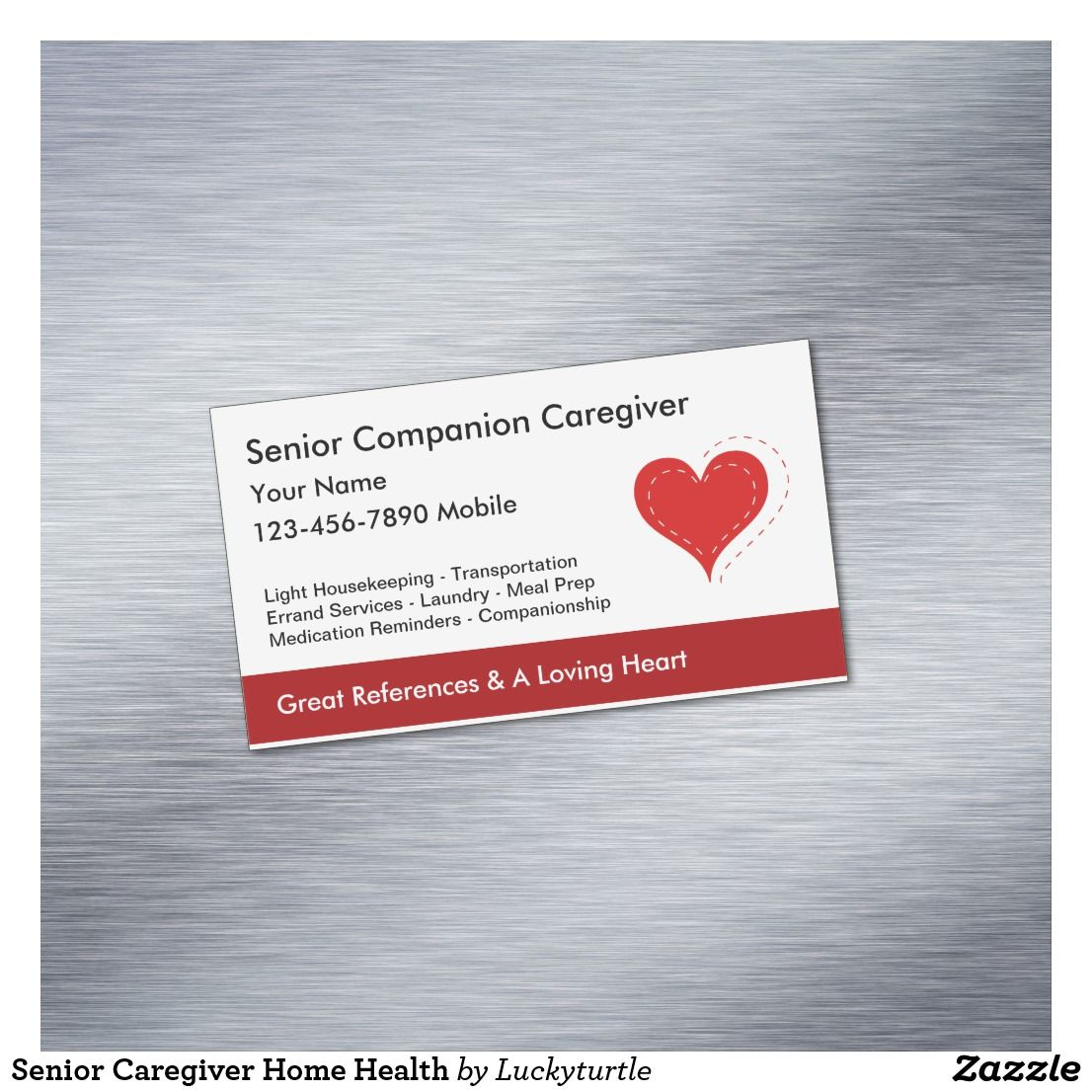 Senior Caregiver Home Health Business Card Zazzle