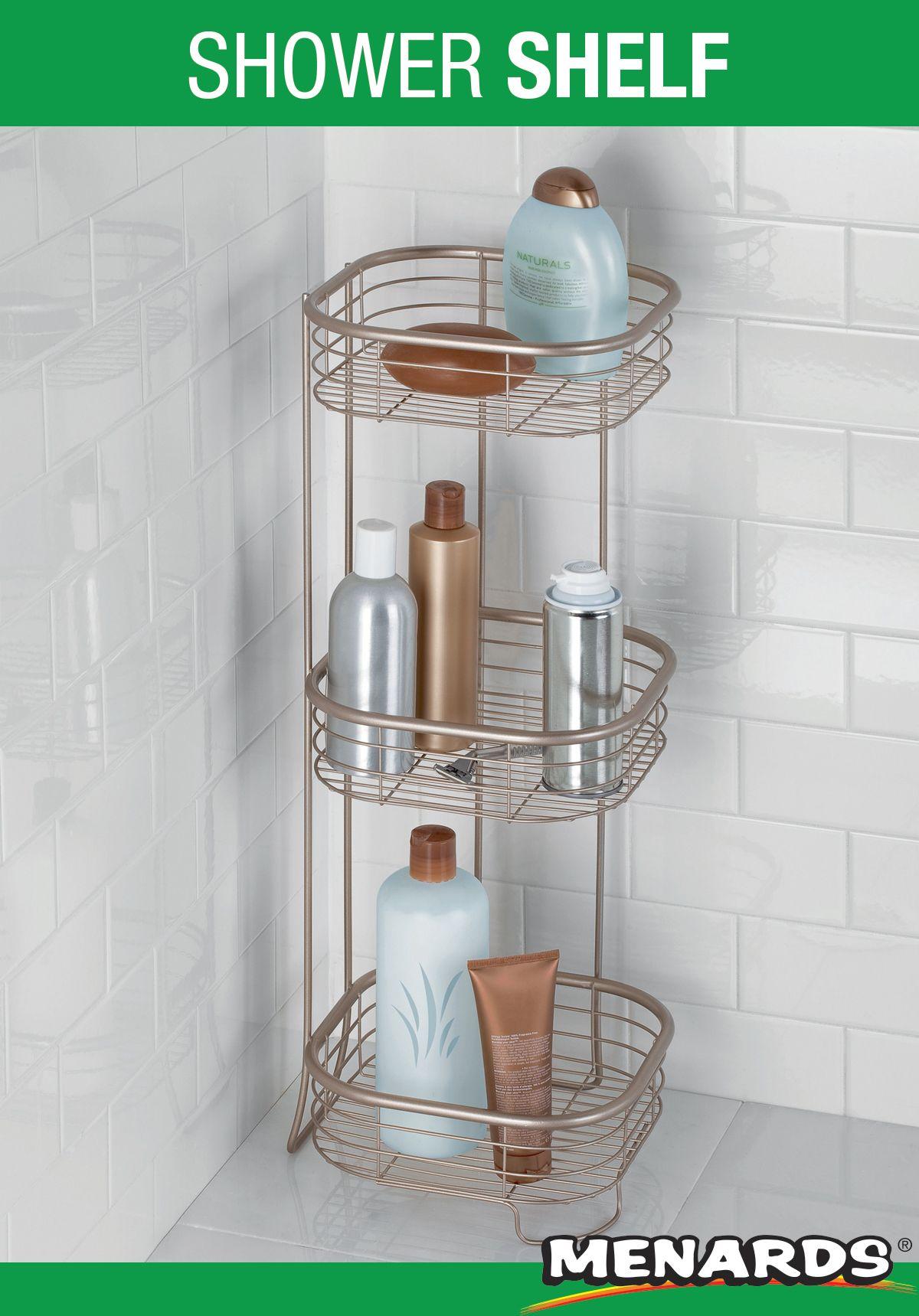 Inter Design Satin Shower Shelf In 2020 Shower Shelves Bathroom Inspiration Modern Bathroom Solutions
