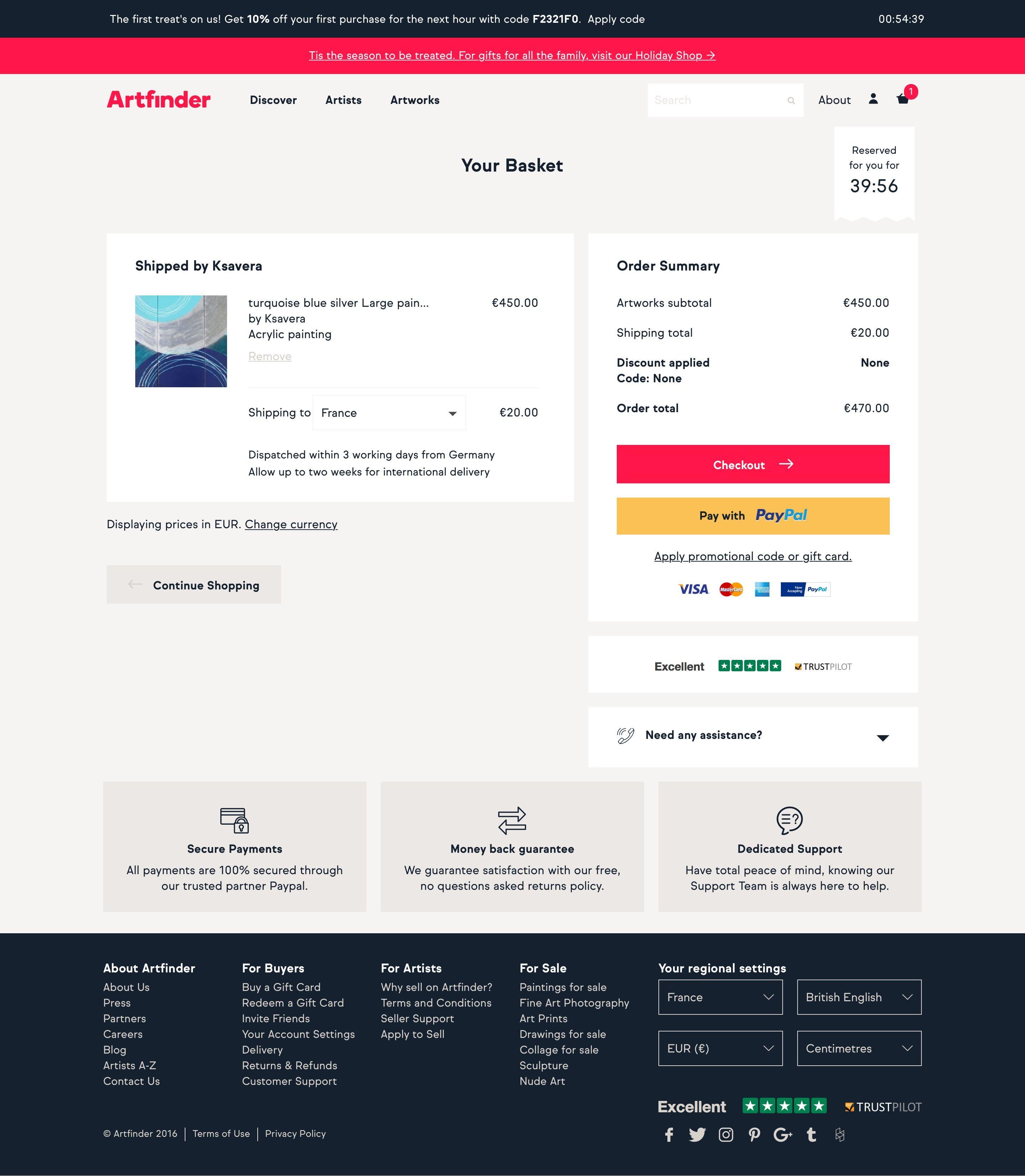 Screenshot Of Artfinder Shopping Cart Pattern Design Inspiration Shopping Web Design
