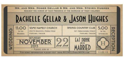 Vintage Telegram Ticket Style Wedding Invitations wedding ideas