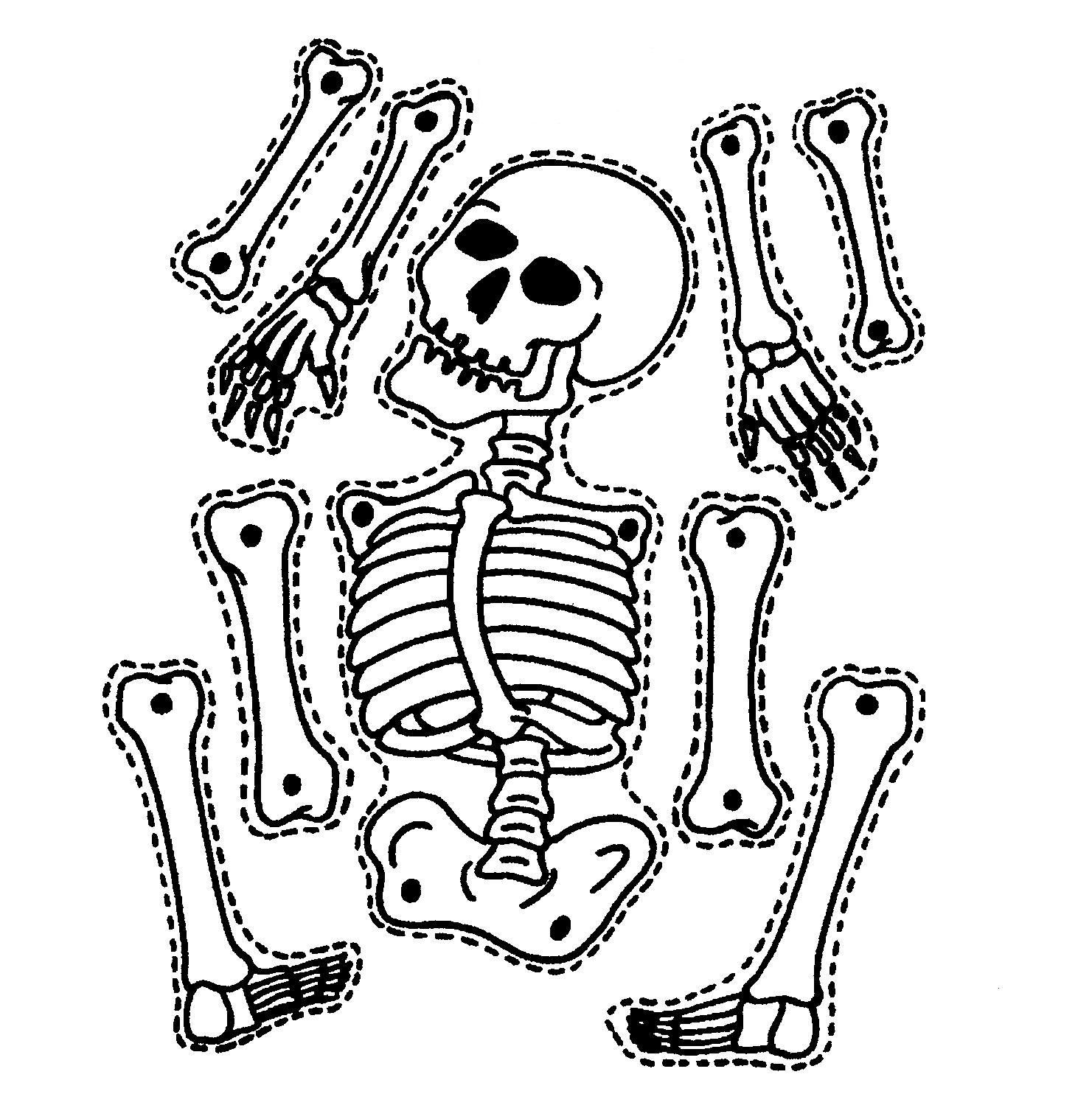 dz doodles digital stamps box within a box and mechanical skeleton clipart - Halloween Skeleton Coloring Pages