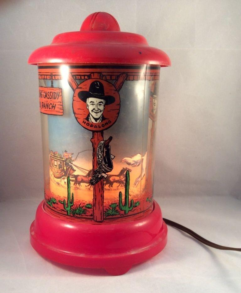 Econolite Hopalong Cassidy Motion Lamp 1950 S Vintage Lamps Vintage Toys Antiques