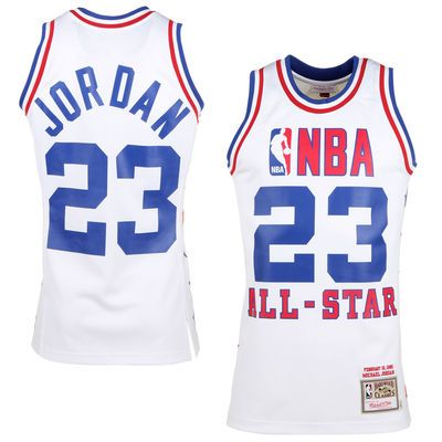new product 2399d b5d23 Mens 1985 East All-Stars Michael Jordan Mitchell   Ness White Hardwood  Classics Authentic Jersey
