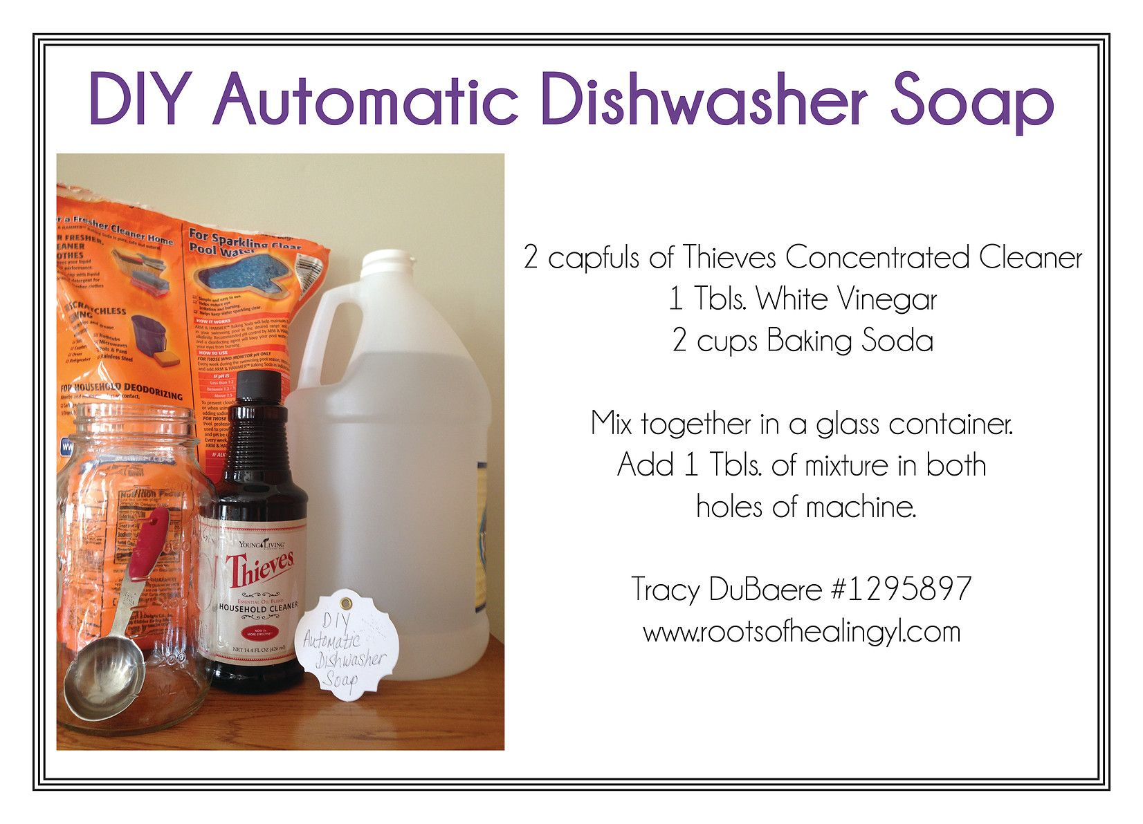 DIY Automatic Dishwasher Soap with Essential Oils
