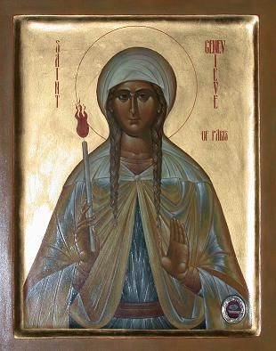 Icons of St. Genevieve of Paris, eldress