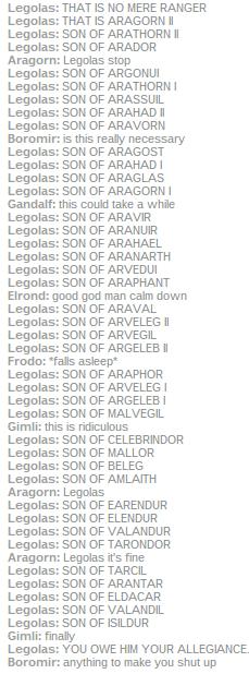 and then aragorn epically forgot legolas father name when introduced