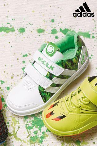 Buy White \u0026 Green adidas Hulk Trainer