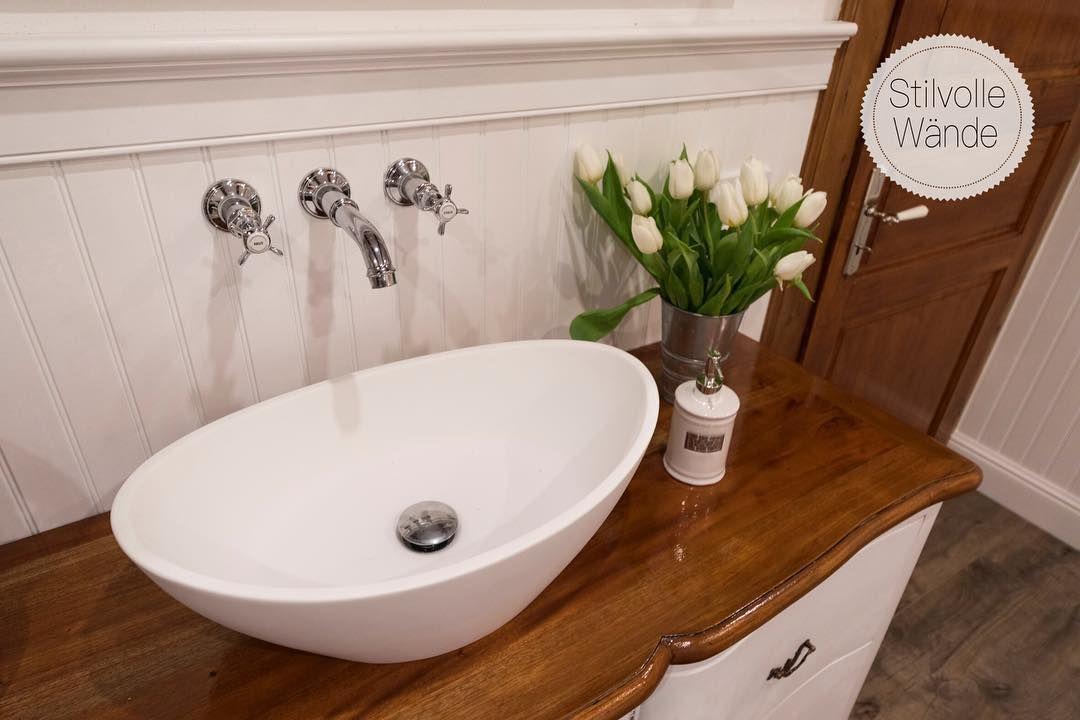 Dieses Paradiesische Badezimmer Verwohnt Die Seele Schon Beim Anblick Findet Ihr Es Nicht Auch Einfach Traumhaft Wandverkleidung Badezimmer Wandvertafelung