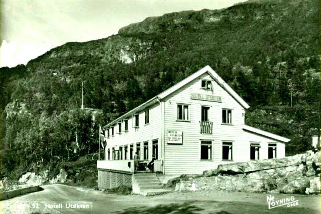Hordaland fylke Odda Seljestad Hotell Utsikten Utg Løyning, Odda 1950-tallet