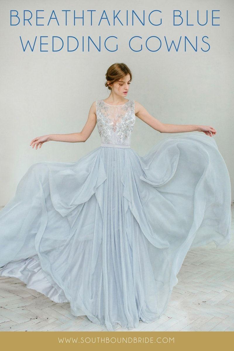 15 Breathtaking Blue Wedding Dresses | Blue wedding dresses, Wedding ...