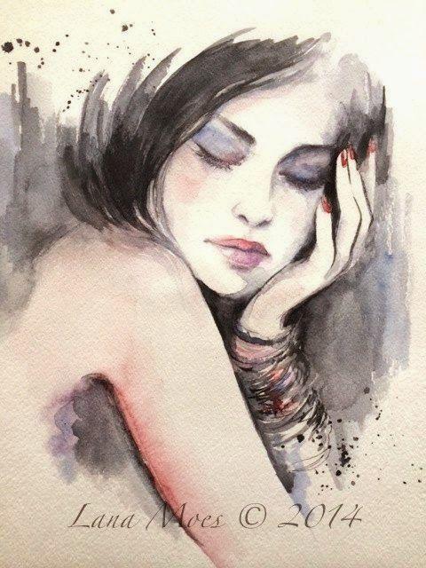 Lana Moes Illustratrice Russie Portrait Dessin Dessin