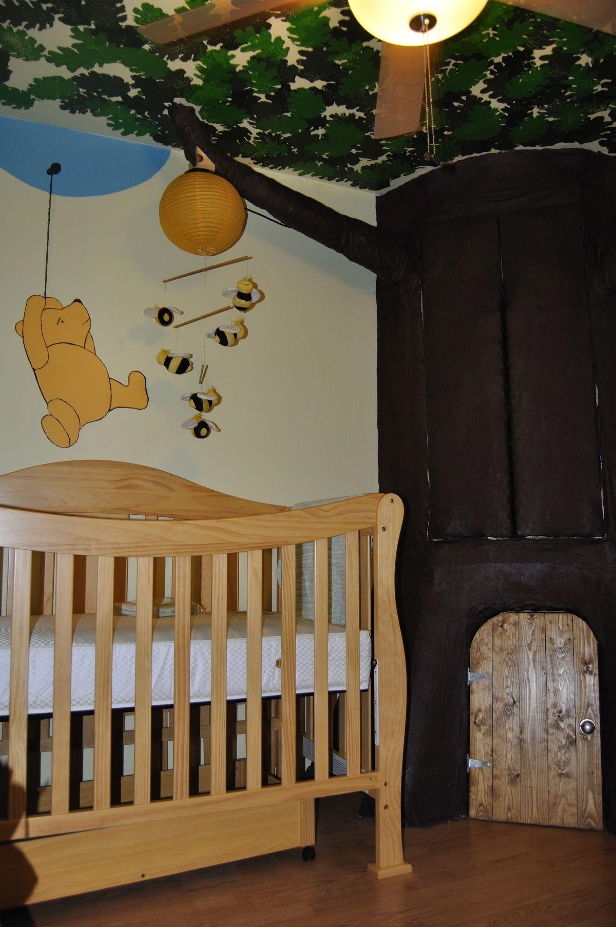 Winnie The Pooh Tree House Kids Bedroom Decor Nursery Nursery