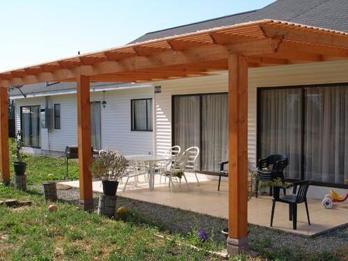 Imagen foto 00000003 techo pergola en 2019 cobertizos for Cobertizo de jardin de techo plano de pvc