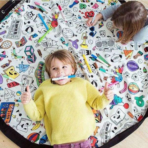 DIY Painting Storage Hanging Bag Carpet - TYChome   Diy ...