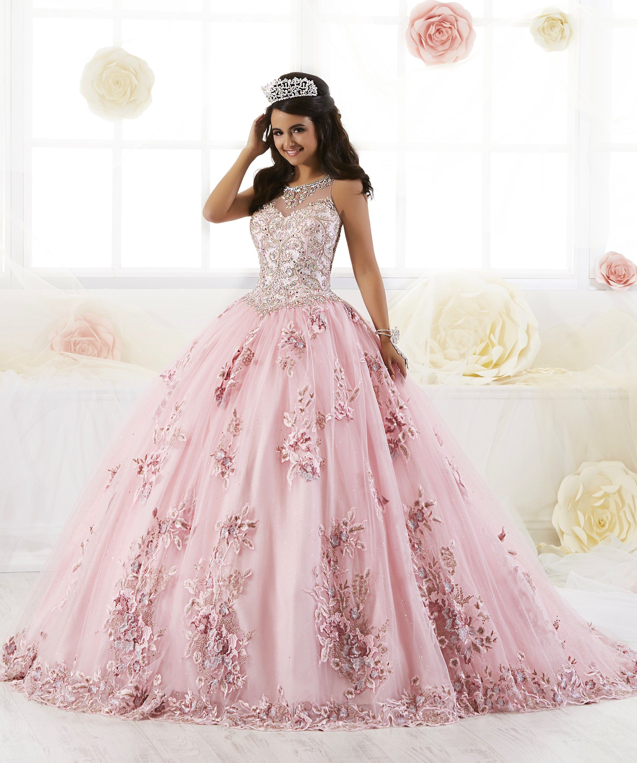1a879dcd0d8 Floral Appliqued Quinceanera Dress by House of Wu 26884 – ABC Fashion