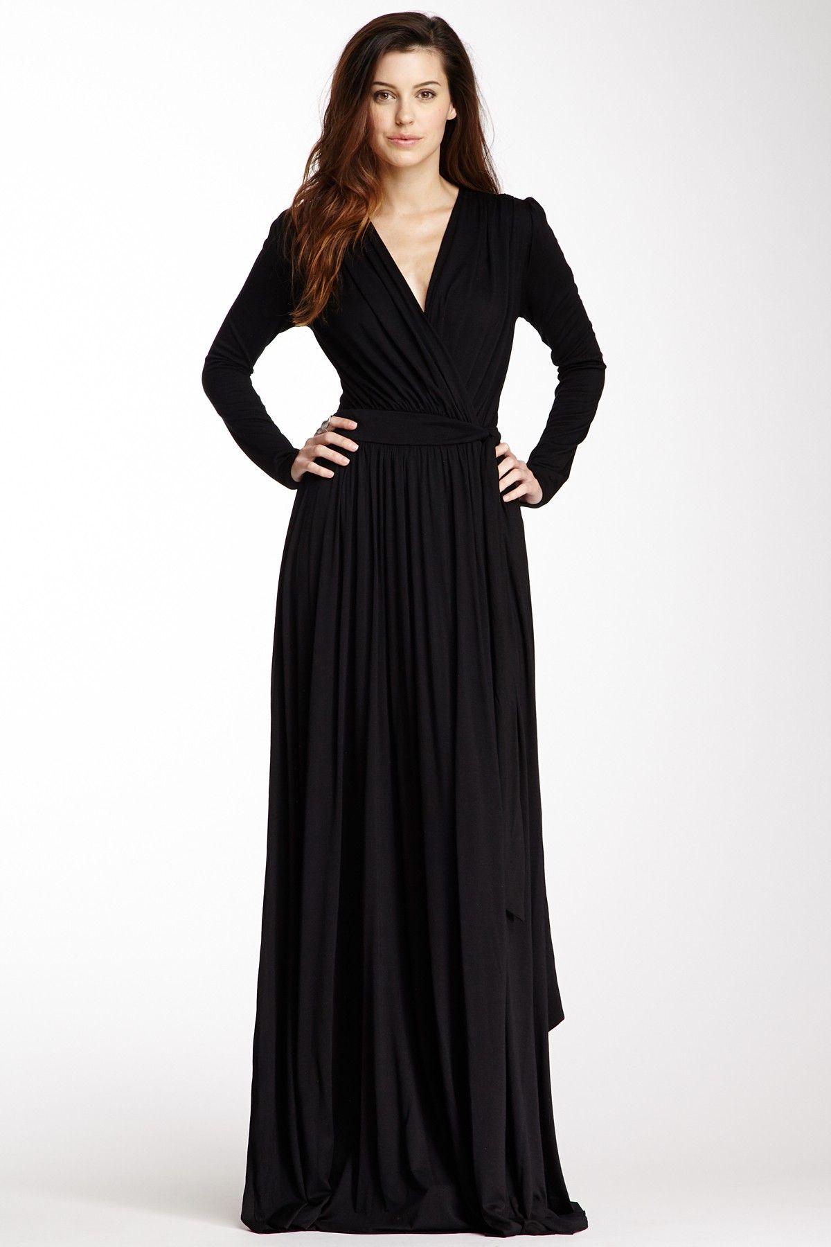 Maxi Wrap Dress Long Sleeve Black Wrap Dress Maxi Skirt Dress Dresses [ 1800 x 1200 Pixel ]