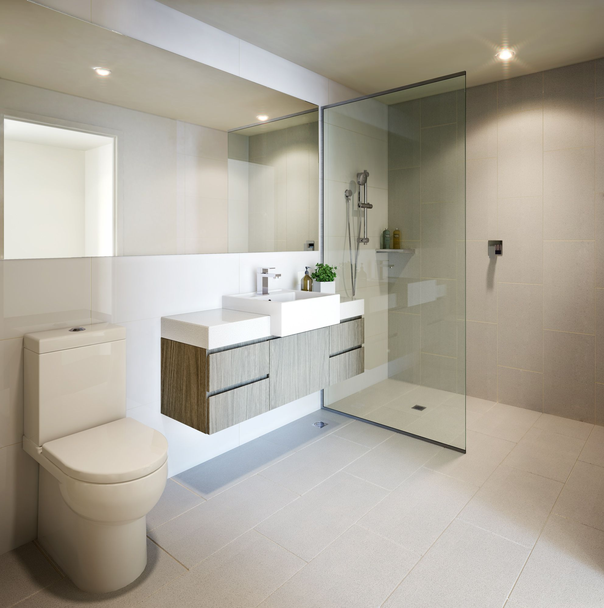 Beautiful neutral bathroom! Perth Apartment www.developwise.com.au ...
