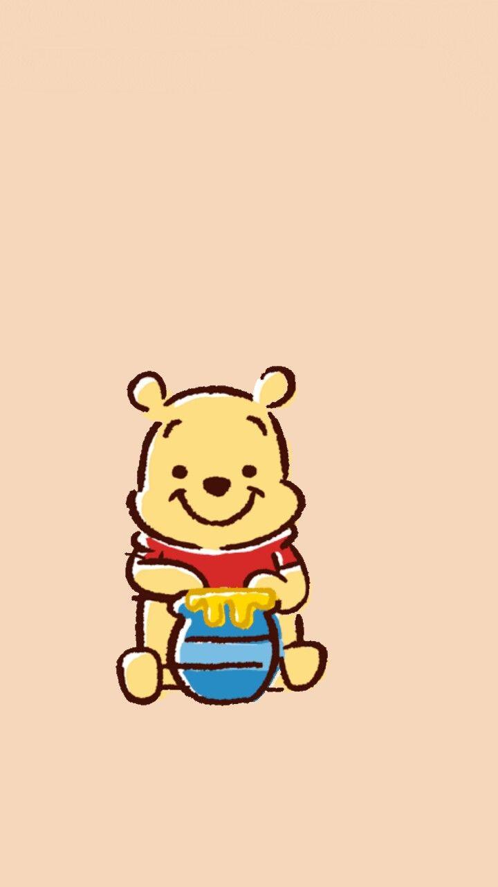 Winnie The Pooh 1 Blue Dengan Gambar Hewan Kartun Hewan Lucu