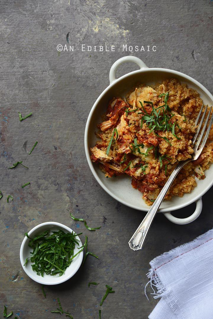 Easy 5 Ingredient Chicken Parmesan Quinoa Casserole And Best High