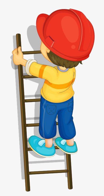 Little Boy Climbing A Ladder Kids Climbing Clip Art Kids Clipart