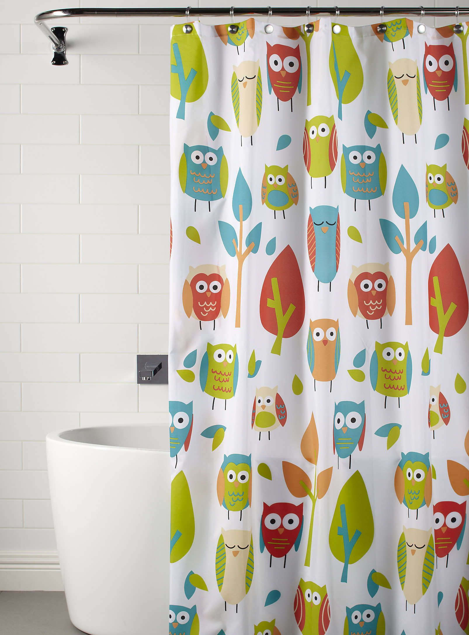 curtain simons owls curtains pin shower owl fun