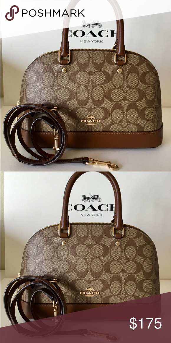 6121c7983c7 Spotted while shopping on Poshmark: 🌷Coach Mini Sierra Satchel In  Signature NWT.! #poshmark #fashion #shopping #style #Coach #Handbags