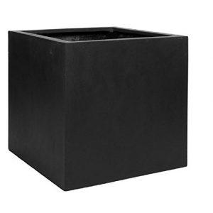 Black Square Large Planter Box Indoor Outdoor Pot Elegant Cube Shaped Sale Backyardequip Com Large Planter Boxes Large Planters Outdoor Pots