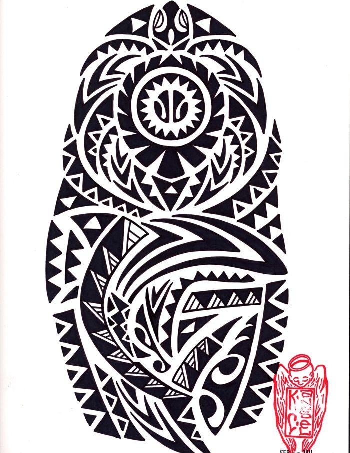 Hawaiian Tribal Tattoo Design