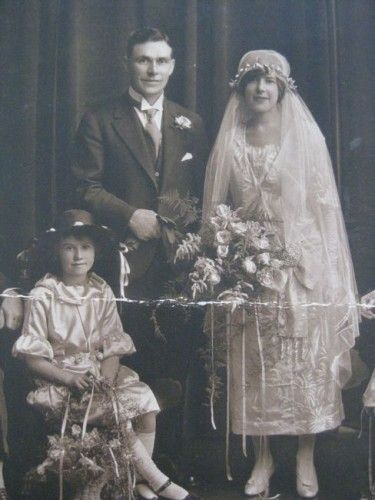 Early 1920s wedding with Great Grandfather-in-law as a groomsman