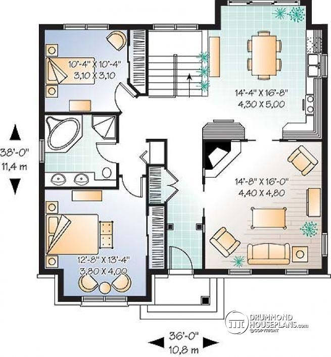 Discover The Plan 2195 Cordia Which Will Please You For Its 2 Bedrooms And For Its Country Styles House Plans Small House Plans Sims House Plans