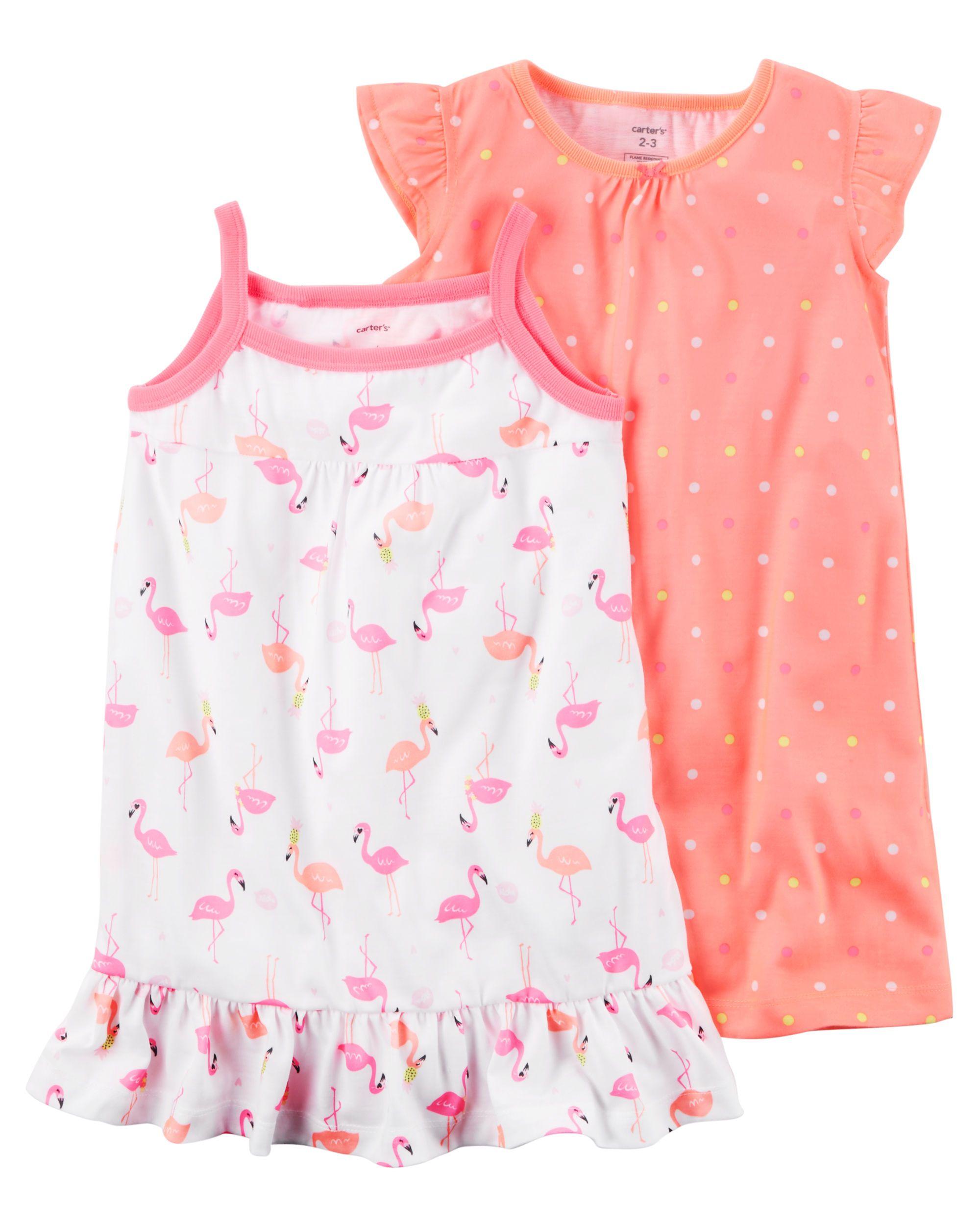 06484470e Toddler Girl 2-Pack Neon Sleep Gowns