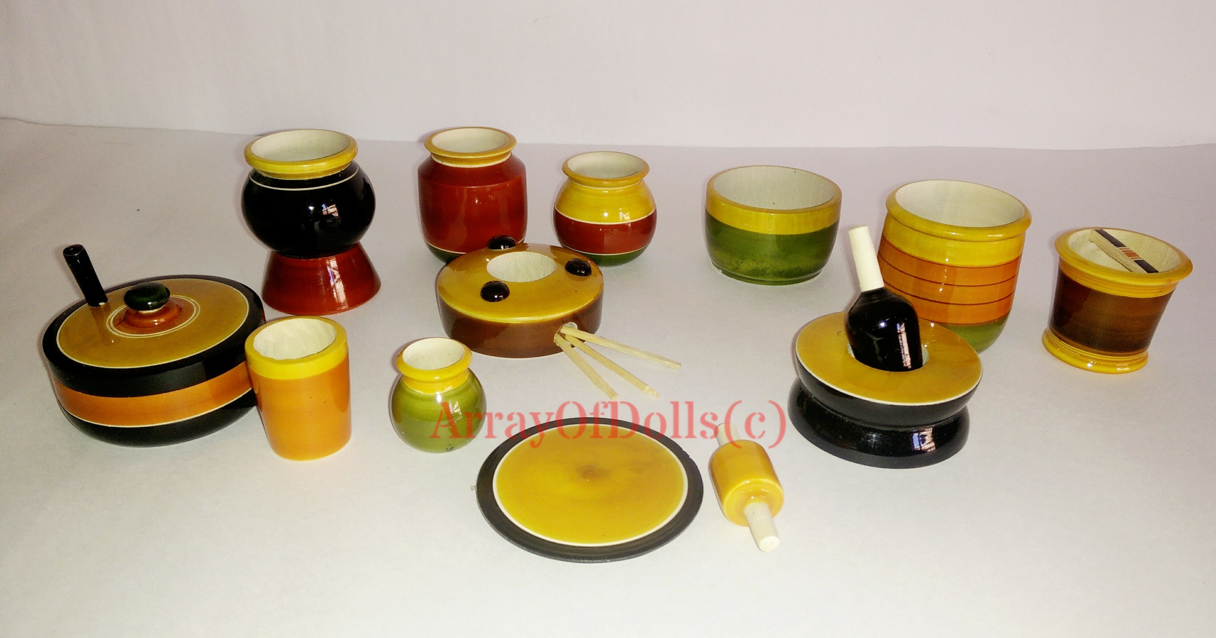 Kitchen set Rs.450 plus shipping 9242451273. Wooden