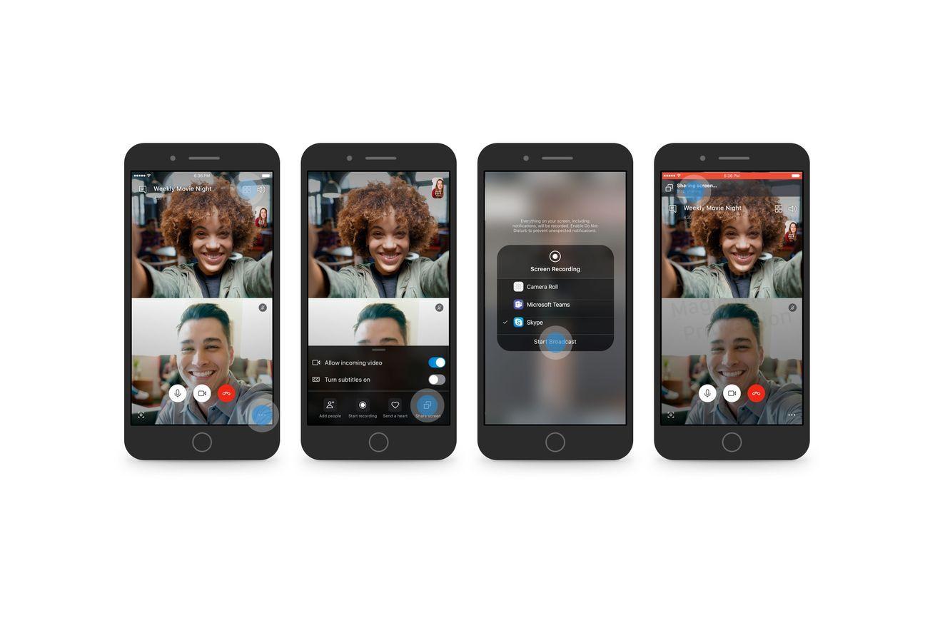 Skype now lets you share your Android or iOS phone screen