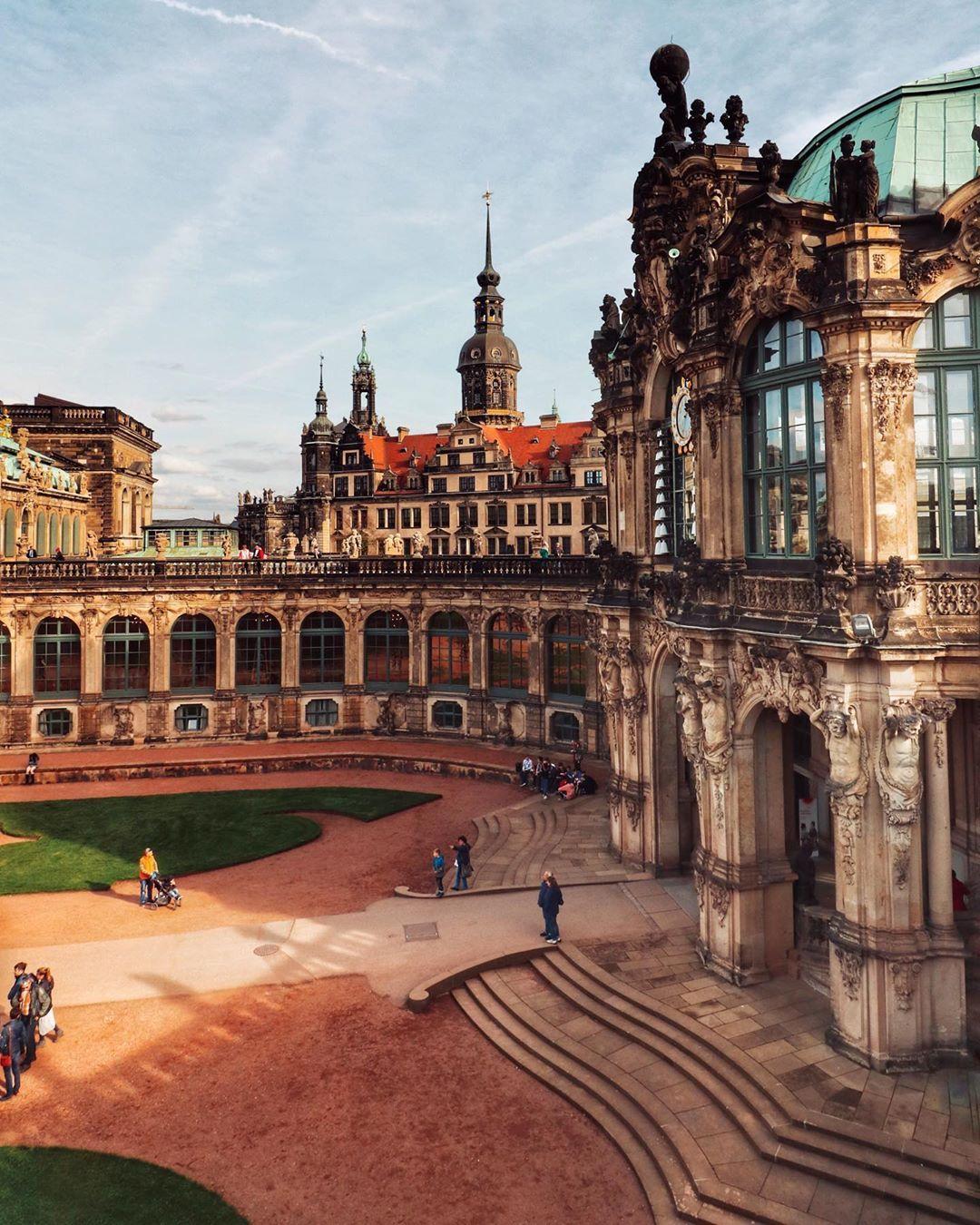 Sunny Dresden Yesterday The Zwinger At 1 30pm Castle Plans Instagram Deutschland