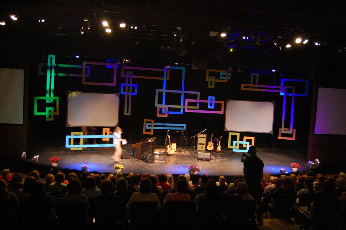 Retro Squares Church Stage Design Church Stage Stage Design