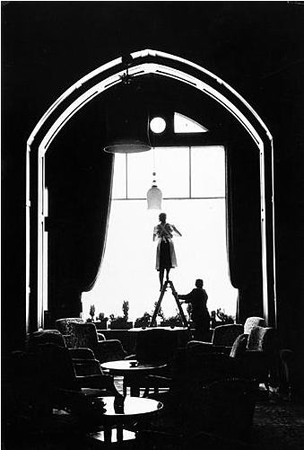 Cleaning Woman On Ladder, 1963