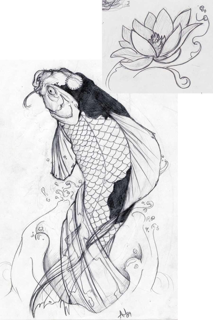 Your Tattoo Designs Carpe Koi Dessin Dessin Poisson Carpe Koi