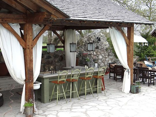 Great outdoor kitchen/bbq/bar area!