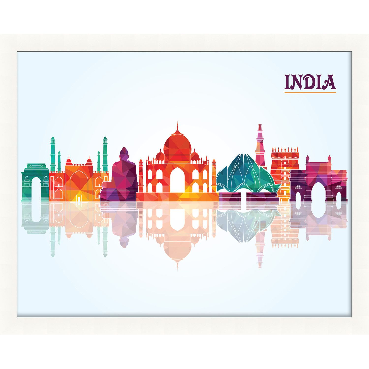 India Pop Skyline Framed Graphic Art in 2018 | naik | Pinterest ...