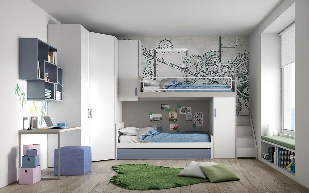 Armadio Per Camera Ragazzi : Render camerette per spazio ragazzi neiko per nardiinterni