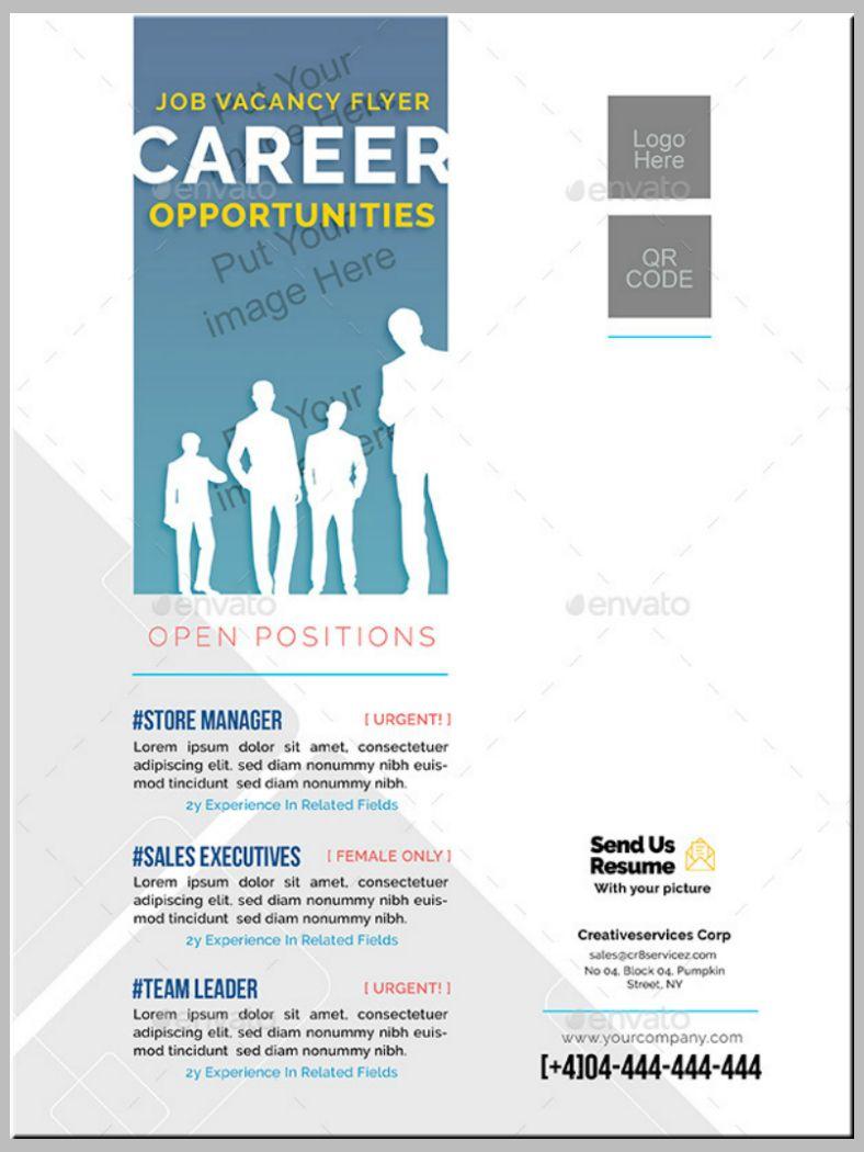 14+ Job Flyer Designs & Templates Psd, Ai Free