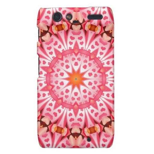 Pink heart pattern droid RAZR covers