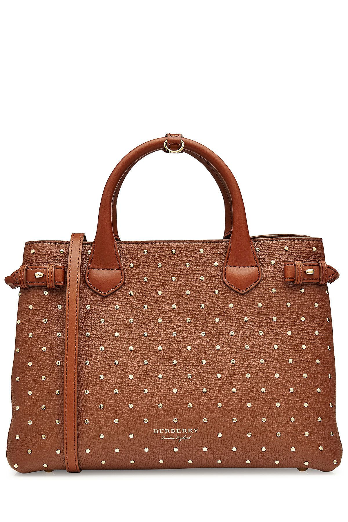 113236b62e Burberry Medium Banner Leather Tote with Studs | Handbags | Burberry ...