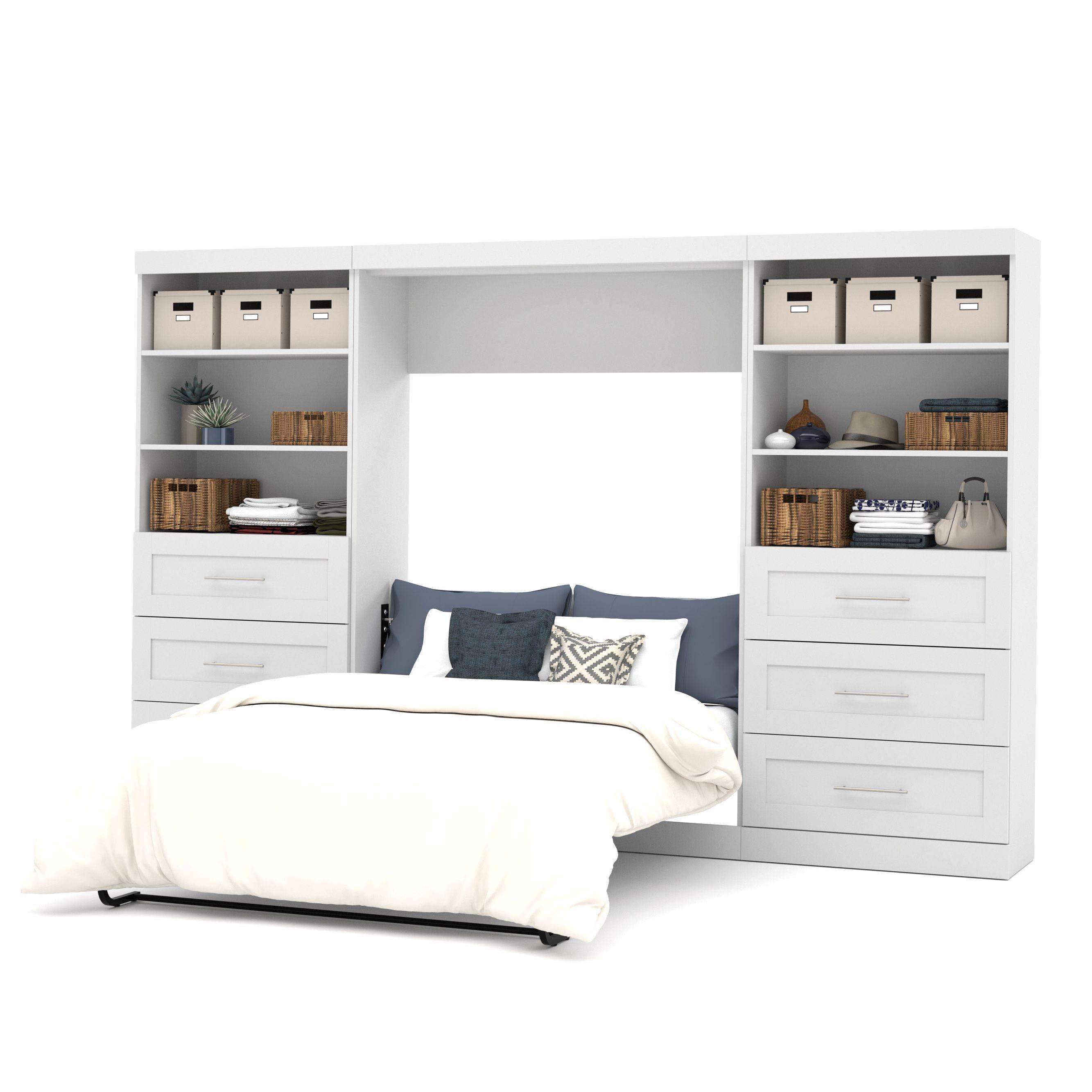 Pur by Bestar 131 Full Wall Bed Kit (White) Modern