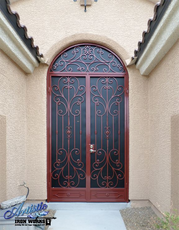 Coco Wrought Iron Security Screen Entryway Model