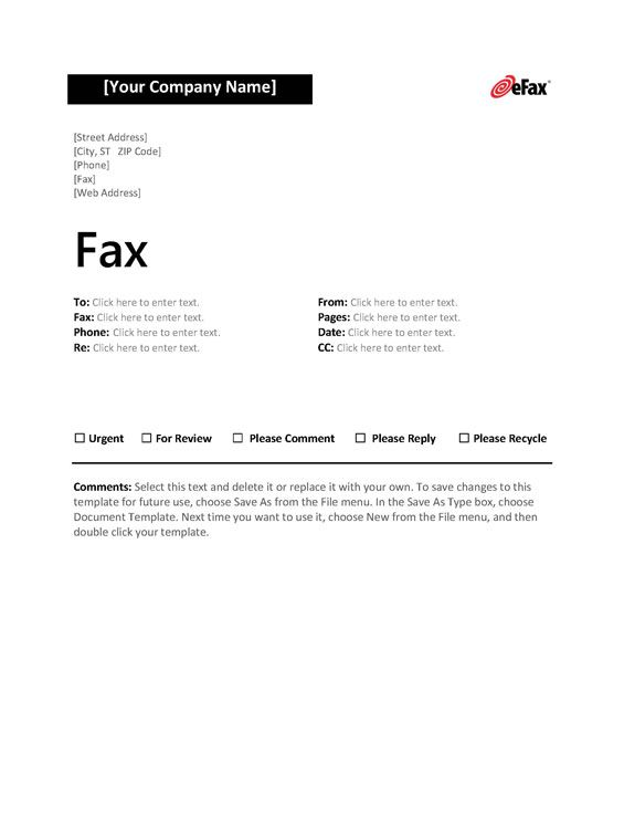 eFax-Template-4 Front fax sheet Pinterest Accounting online - fax word template