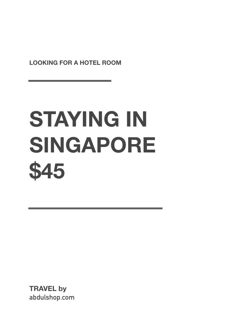 Hotels In Singapore Cheap Hotels Near Me With Images Cheap
