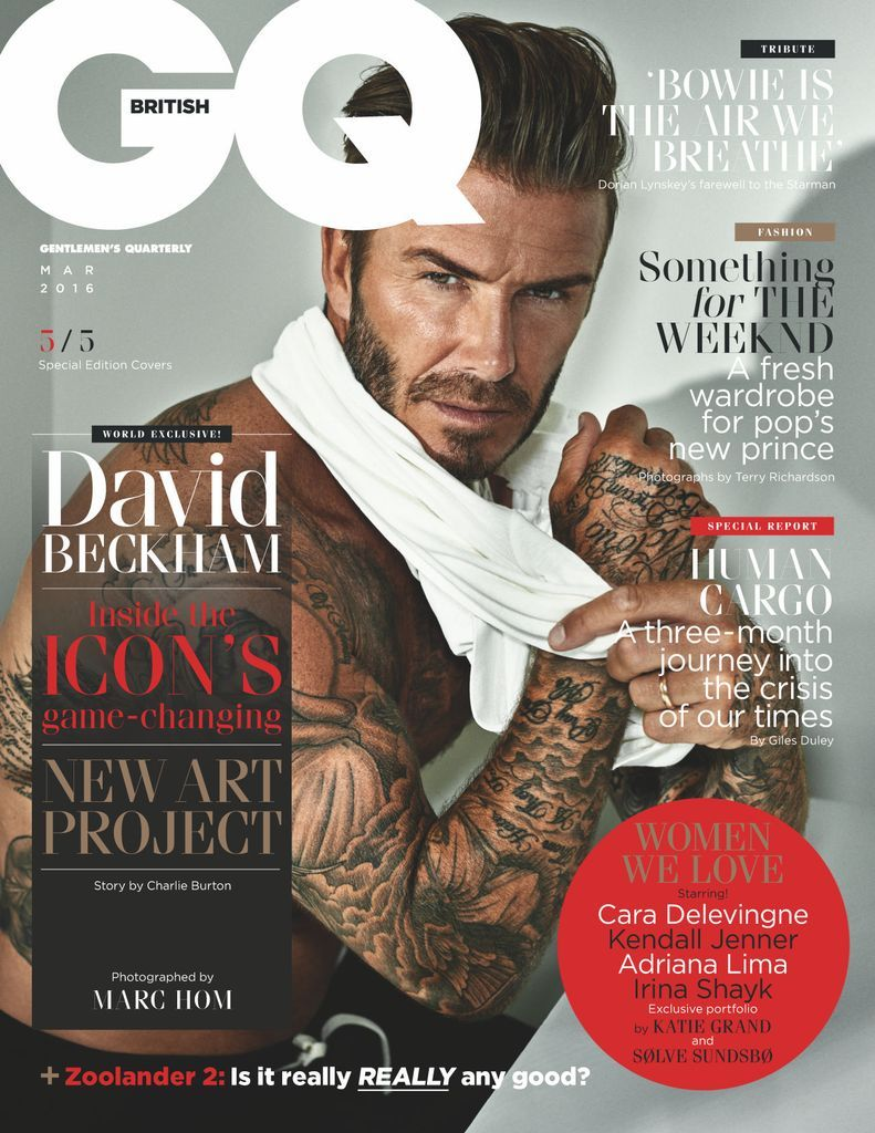 British Gq Back Issue March 2016 Digital In 2021 Gq David Beckham Gq Magazine Covers
